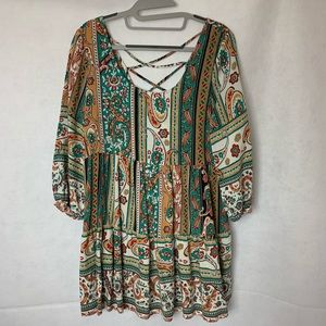 Umgee Floral Paisley Tunic Top